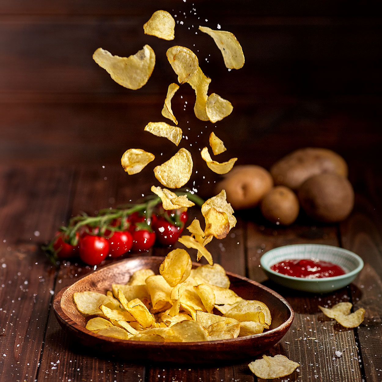 foodfotografie, chips, aktion, kino, tomaten, kartoffel, ketchup, Marchtrenk, Linz, Wels, Oberösterreich